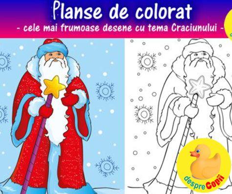 Desene de craciun - planse de colorat