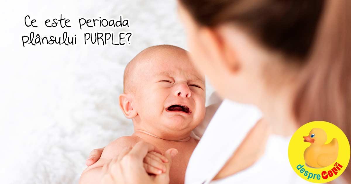 Plansul PURPLE sau plansul care pare imposibil de consolat: ce este si sfaturi pentru a calma bebelusul