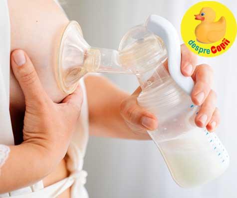Pomparea laptelui matern: iata cum poate ajuta la cresterea cantitatii de lapte matern