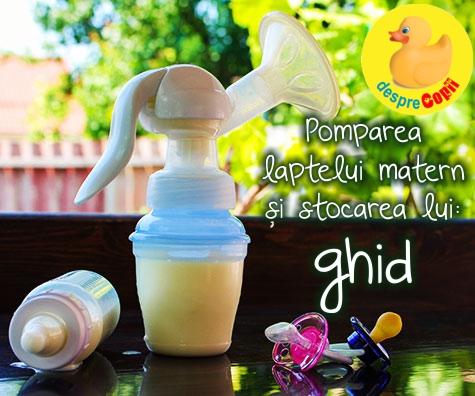 Pomparea laptelui matern si stocarea lui: ghid