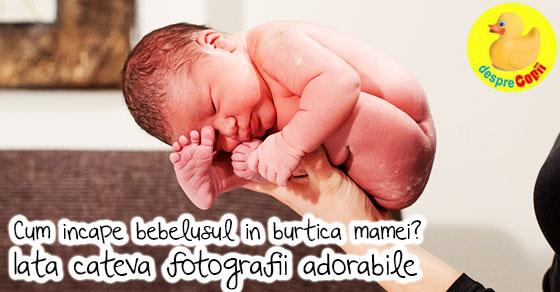 Iata cum sta bebelusul in burtica mamei - imagini pline de emotie surprinse in primele secunde la de la nastere