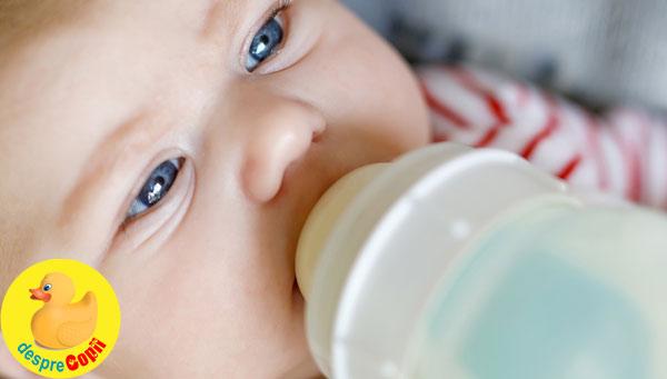 De ce bebelusul nu trebuie sa bea prea mult lapte formula: riscul supraalimentarii