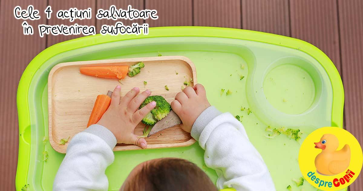 4 actiuni salvatoare pentru a preveni sufocarea bebelusului cu alimente