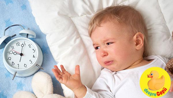 Cele mai frecvente probleme de somn ale copilului (0-2 ani)