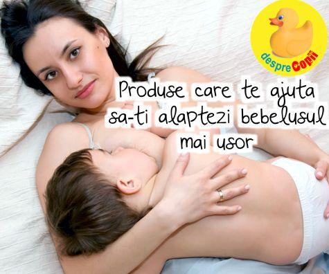 13 produse care te ajuta sa alaptezi bebelusul mai usor