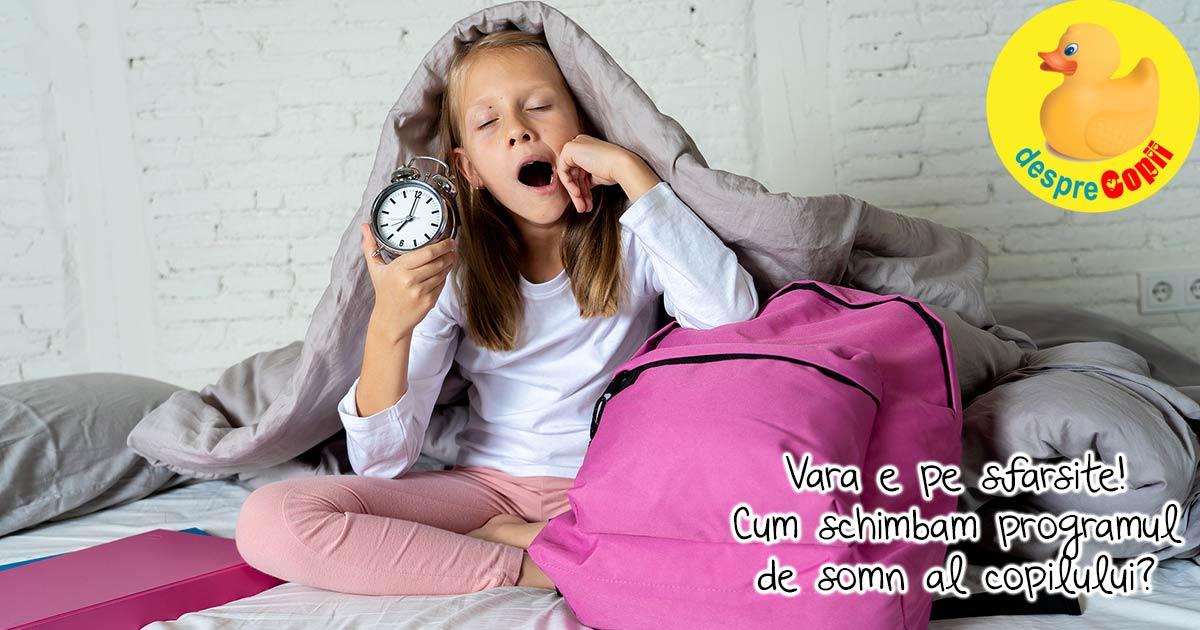 Reglarea programului de somn al copilului pentru inceputul scolii - cand si cum schimbam ora de culcare a copilului?