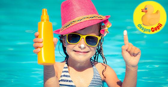 E vara iar protectia solara este importanta pentru intreaga familie