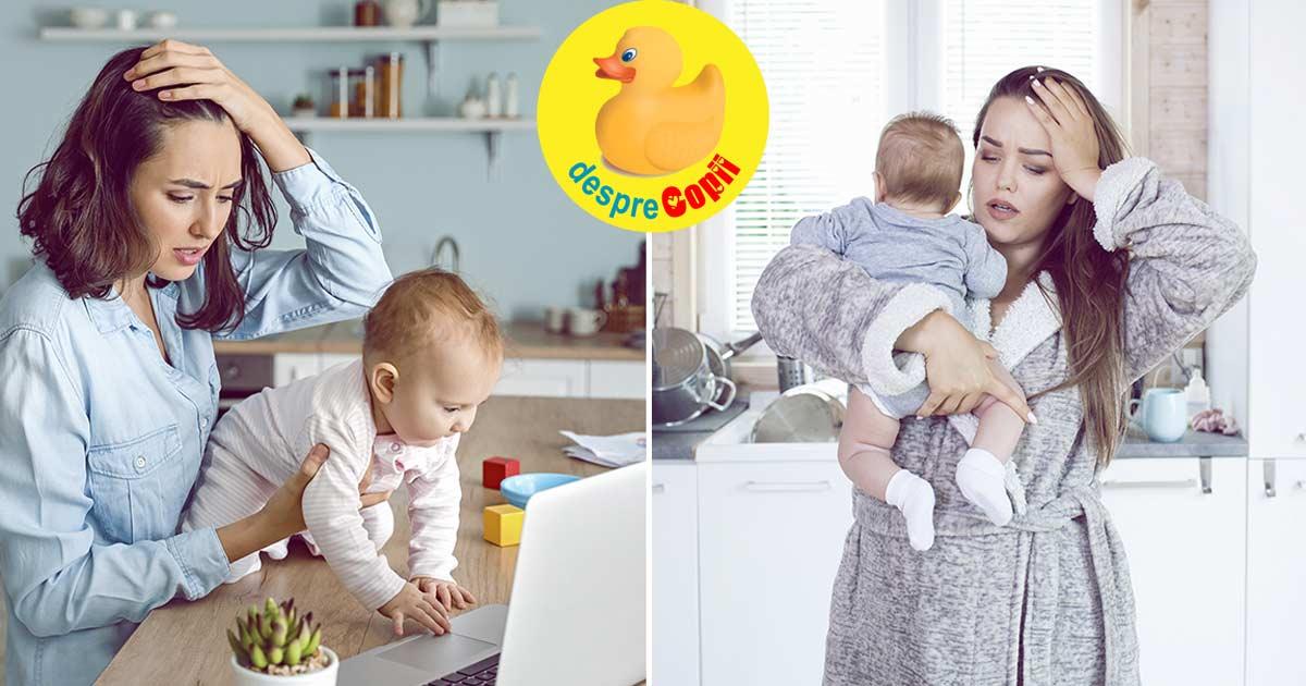 Cele mai mari provocari ale mamicilor in primul an de viata al copilului - cu realism