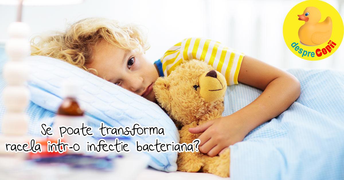 Se poate transforma raceala obisnuita intr-o infectie bacteriana care are nevoie de tratament cu antibiotice?