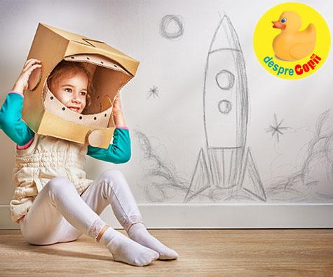 Copiii si imaginatia: de e important sa ii incurajam sa viseze
