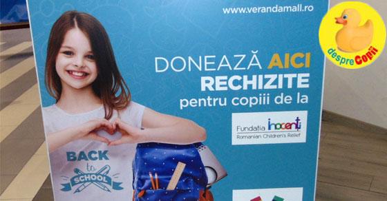 Anul scolar incepe cu fapte bune si rechizite personalizate, la Veranda Mall