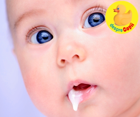Regurgitatul bebelusului; care sunt motivele si cand trebuie sa ne panicam