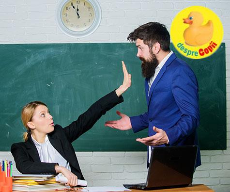 4 greseli mari pe care parintii le fac in relatia cu profesorii copiilor lor