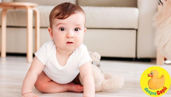 Repere dezvoltare ale bebelusului de 6-7 luni