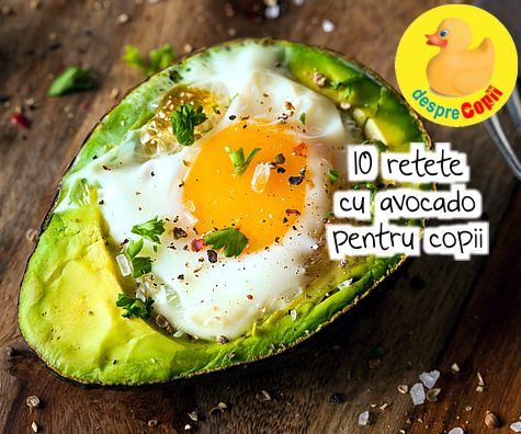 10 retete cu avocado pentru copii
