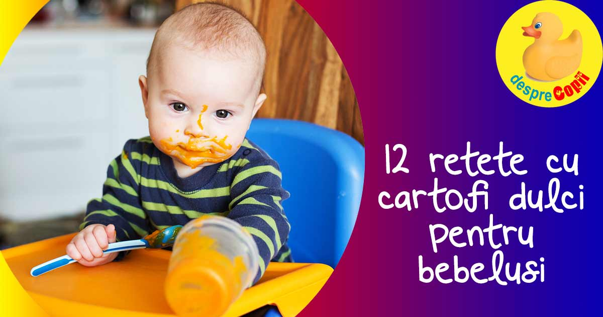 12 Retete cu cartofi dulci pentru bebelusi