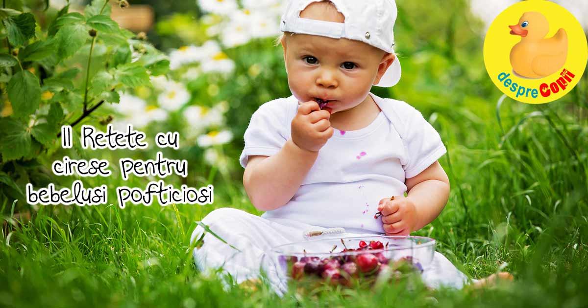 11 Retete cu cirese pentru bebelusi - pline de nutrienti si gust