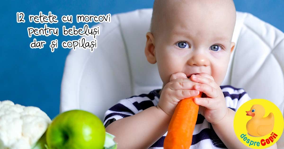 12 retete cu morcovi pentru bebelusi dar si pentru copilasi - pentru sustinerea sistemului imunitar
