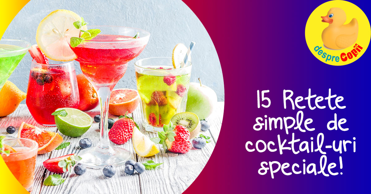 15 retete simple de cocktail-uri speciale