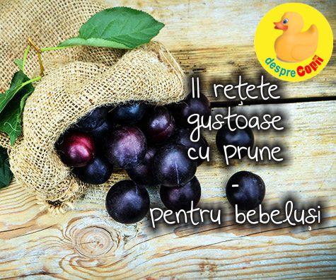 11 retete gustoase cu prune - pentru bebelusi