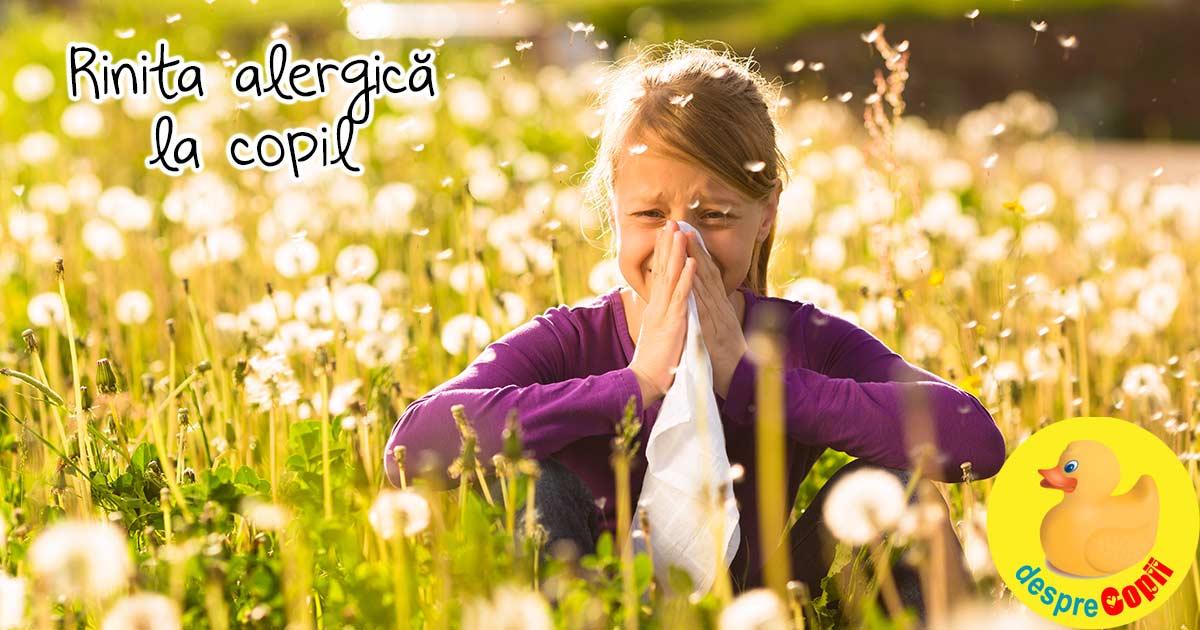 Rinita alergica la copil