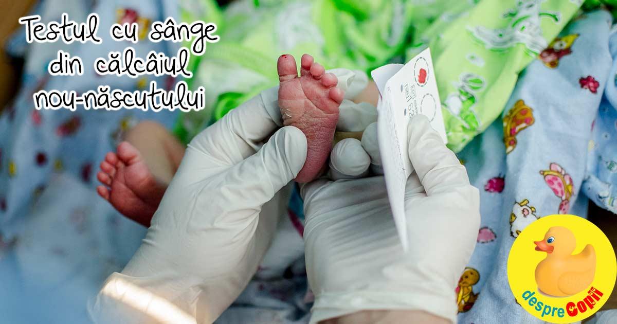 Decizii importante de luat pentru copil inainte de nastere: testul Guthrie, testul din calcaiul nou-nascutului