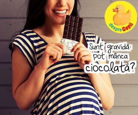 Sunt gravida: pot manca ciocolata?