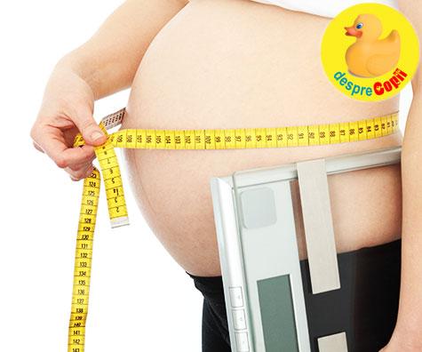 Greutatea din timpul sarcinii si zaharul, pot influenta greutatea si sanatatea copilului