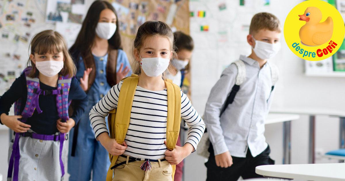 Inapoi la scoala in timpul pandemiei. Cum pregatim sistemul imunitar al copilului pentru a-l feri de raceli, gripa si COVID-19