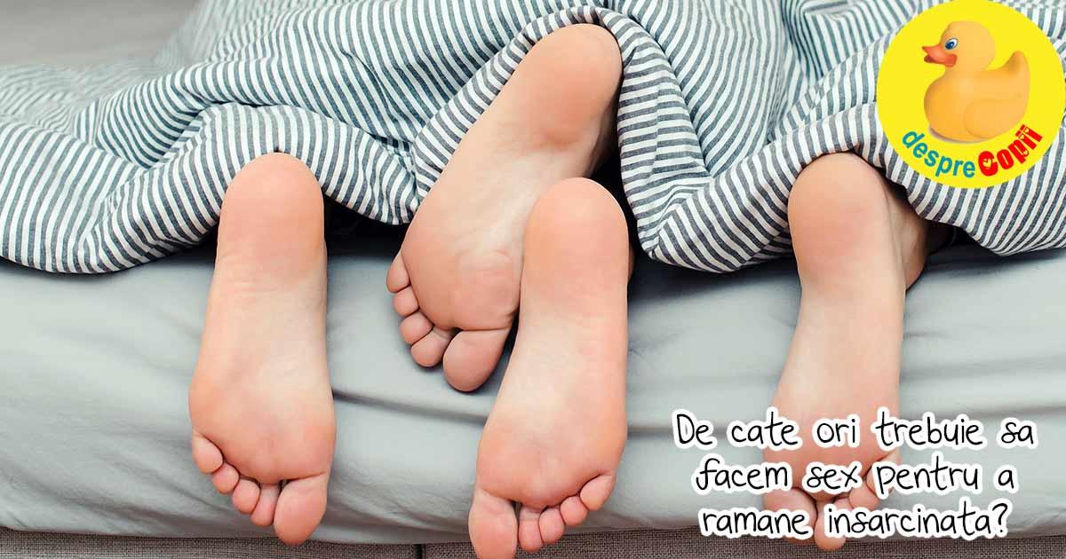 104 sesiuni de dragoste intima pentru a ramane insarcinata - aceasta este media pentru a concepe un copil