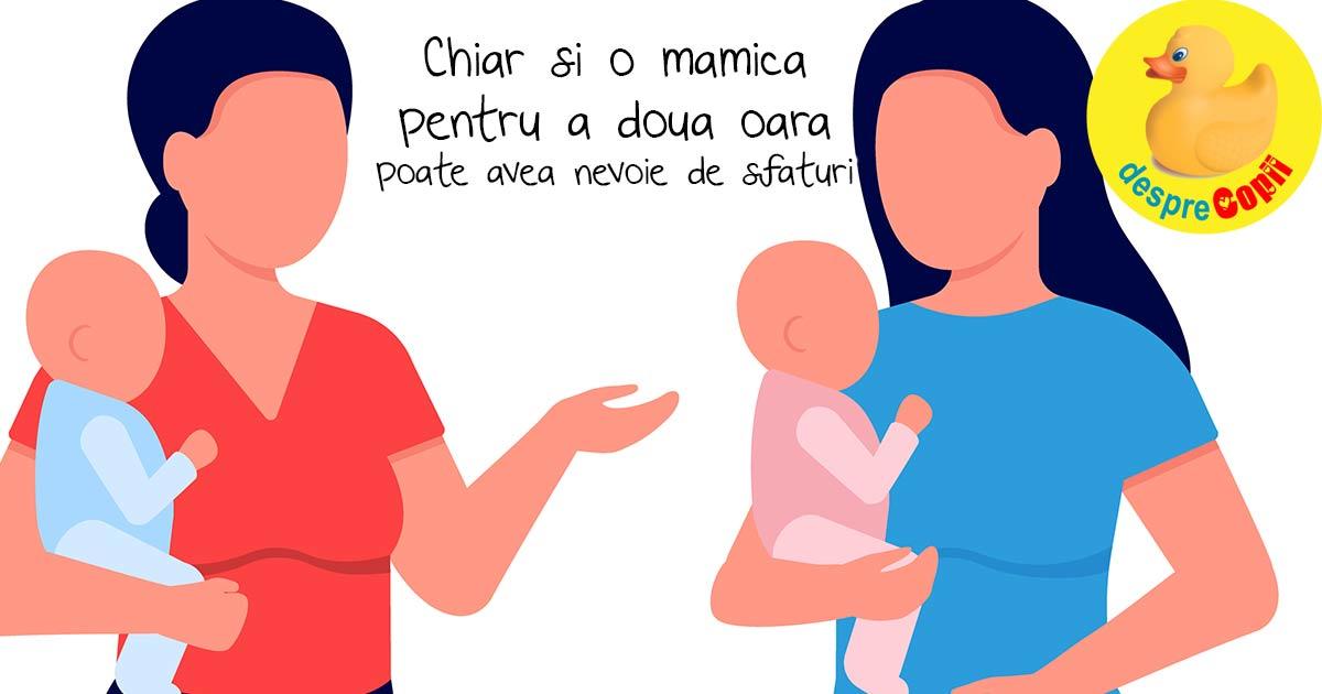 Cand te pregatesti sa devii mama a doua oara - 7 sfaturi de la mama la mama
