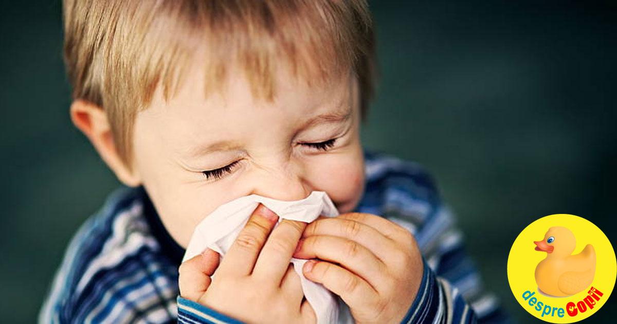Sinuzita la copil: tipuri, diagnostic si tratament - sfatul medicului