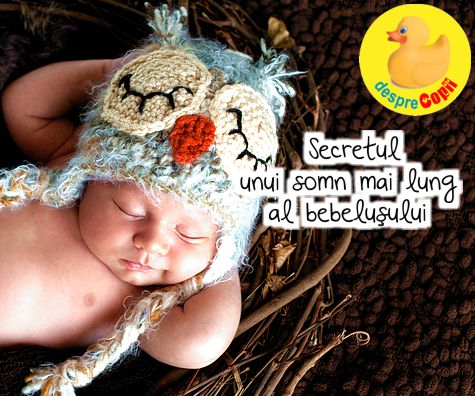 Secretul unui somn mai lung al bebelusului