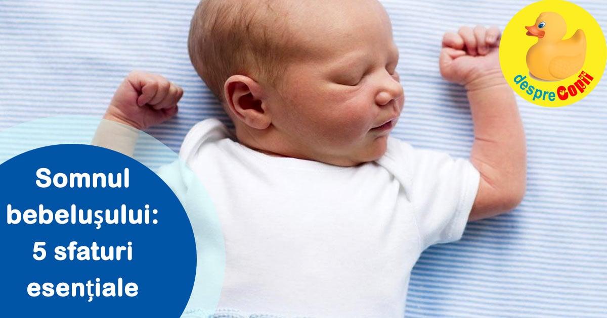 Somnul bebelusului: 5 sfaturi esentiale