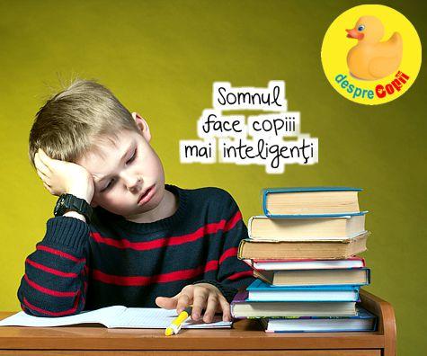 Somnul face copiii mai inteligenti
