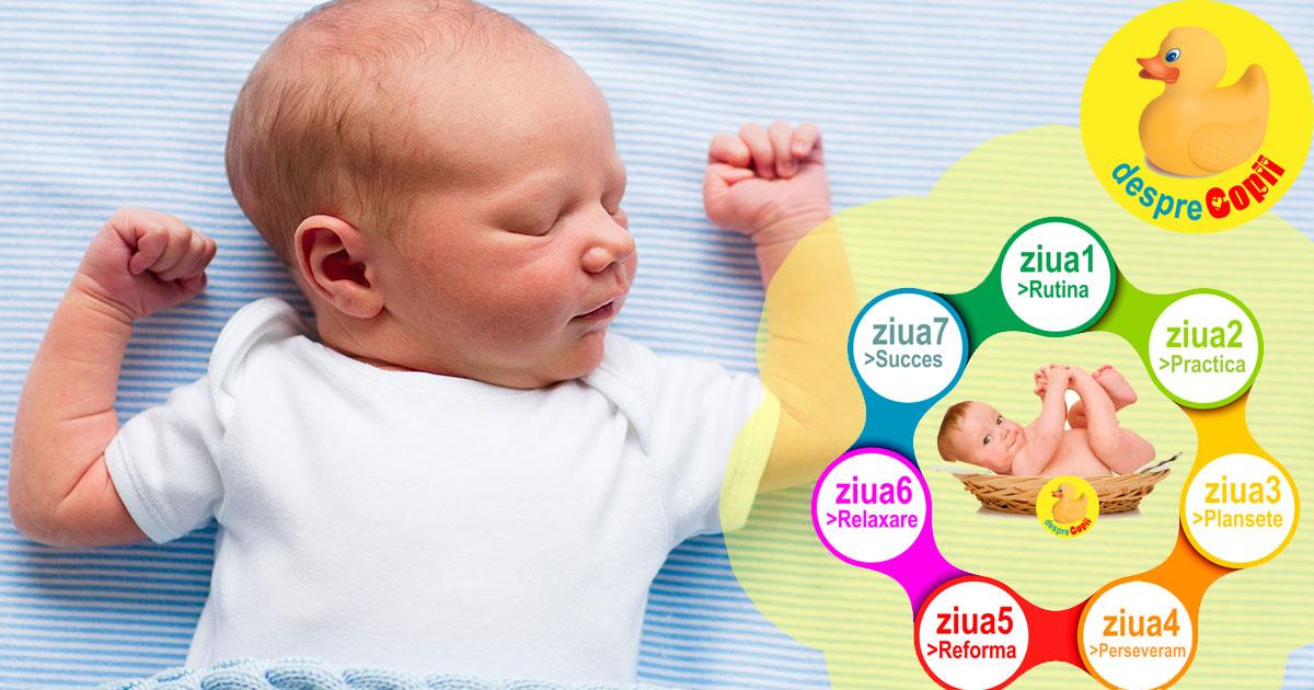 Invata-ti bebelusul sa doarma noaptea in numai 7 zile: diagrama lectiei somnului de noapte