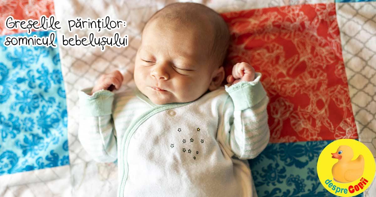 Greselile mamicilor de bebelusi: nu cunosc riscurile majore legate de somnul bebelusului