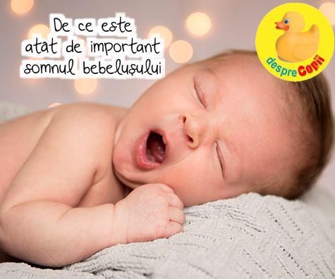 De ce este atat de important somnul bebelusului