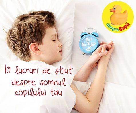 10 lucruri de stiut despre somnul copilului tau