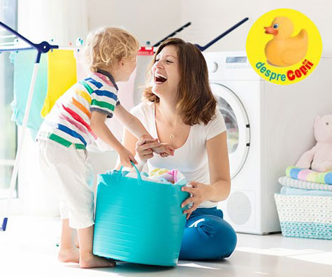 Incurajeaza copilul sa ajute in casa si spune DA ordinei si curateniei