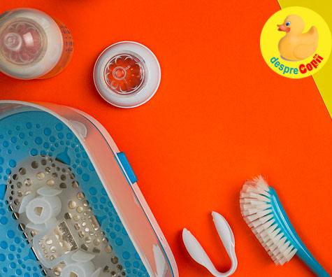 Ce trebuie sa stii despre sterilizarea si incalzirea biberonului