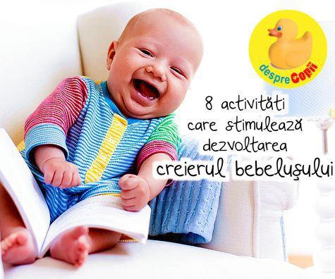 8 activitati care stimuleaza dezvoltarea creierului bebelusului