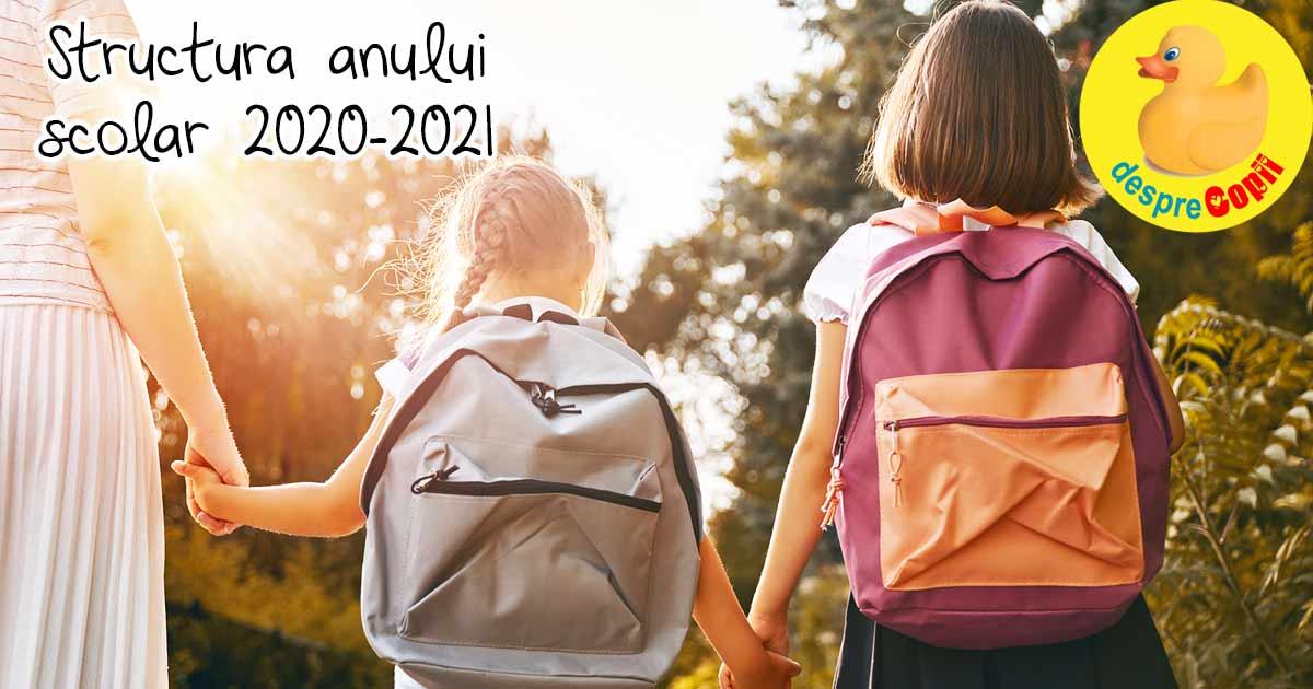 Structura anului scolar 2020-2021