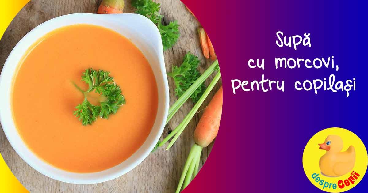 Supa de mere, morcovi si ceapa - reteta pentru bebelusi si copilasi