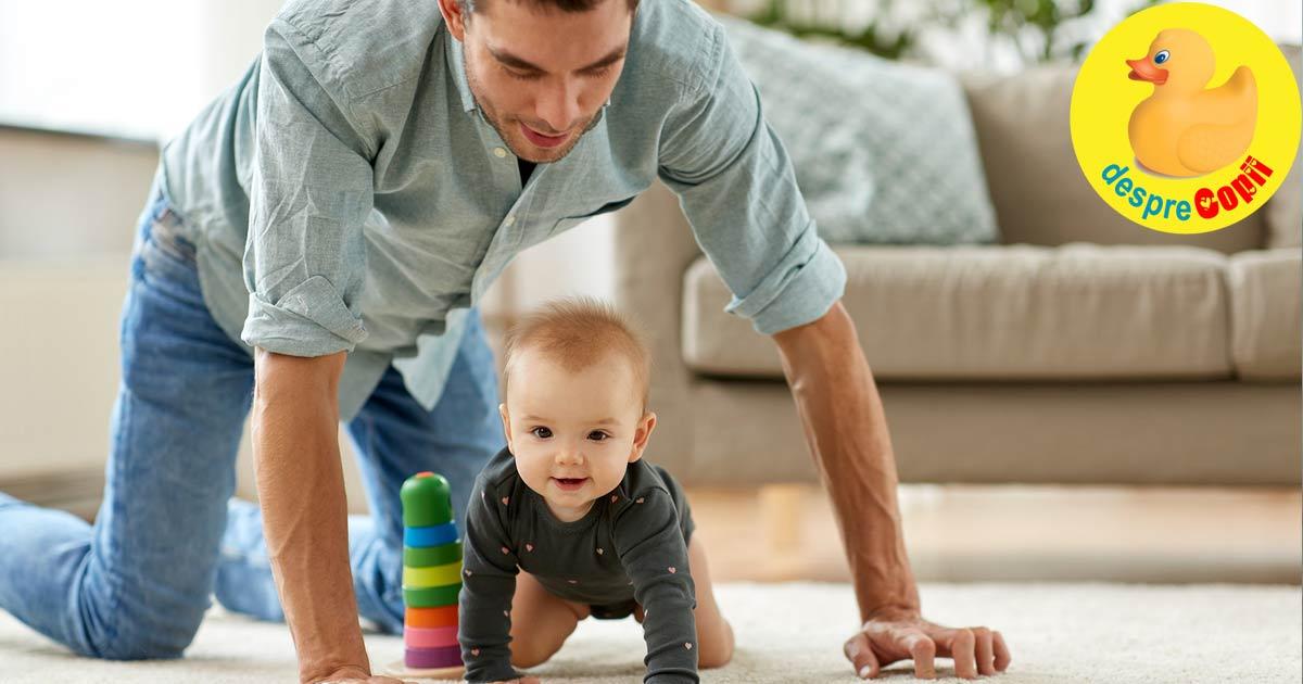 Cand tati este pentru prima oara singur acasa cu bebelusul...