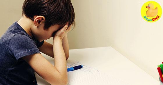 Cand temele pentru acasa sunt o corvoada pentru copii