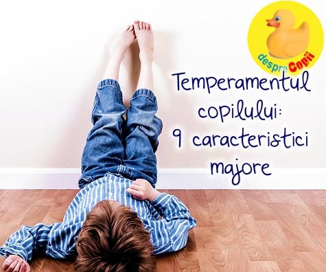 Temperamentul copilului: 9 caracteristici majore si cum il putem intelege mai bine