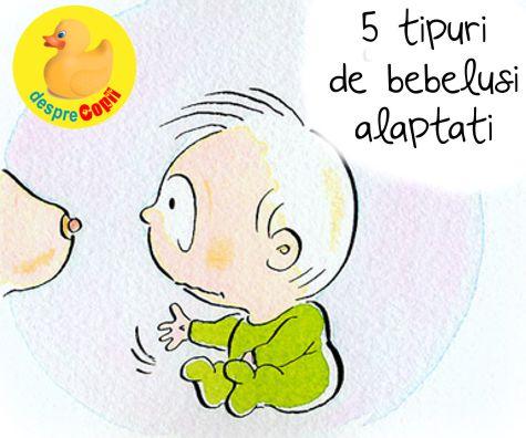 Exista 5 tipuri de bebelusi alaptati la san