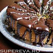 Tort galben cu glazura de ciocolata