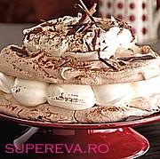 Tort bezea cu crema de ness si cocos